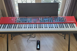 Nord Stage 3 88 + stand + pedal + desk + bench