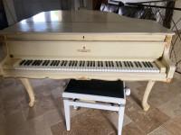 Baroque quarter grand piano