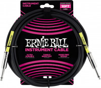 Ernie Ball - 10' Straight/straight Instrument Cable Black