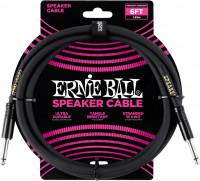 Ernie Ball - 6' Straight/straight Speaker Cable Black